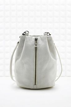 UO White leather bag