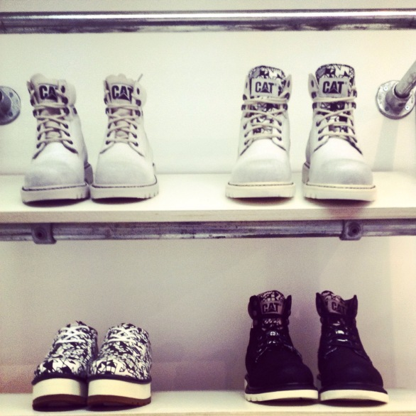 Next, I got to indulge my first love, fashion, at the Village Press and Coffin on Cake Press days. At Coffin I fell in love with the CAT boots