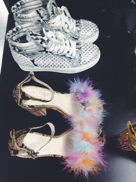 ASHISH SS15 Fluffy Shoes