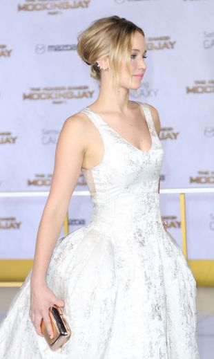 Or you can pin it up as seen on JLaw