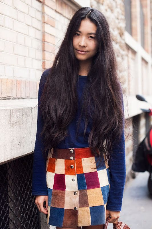 This patchwork skirt is pure throwback and it works