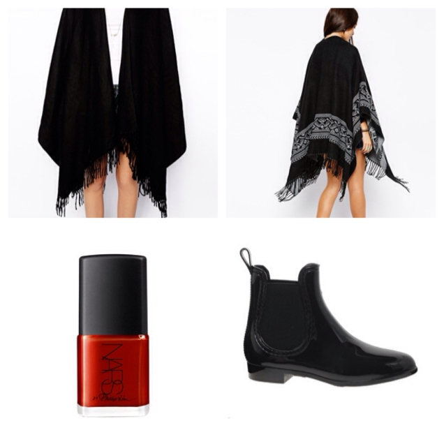 Thank god for the blanket scarf, the perfect accessory for when you take off your coat. I also love these chelsea wellies, Juju we salute you!