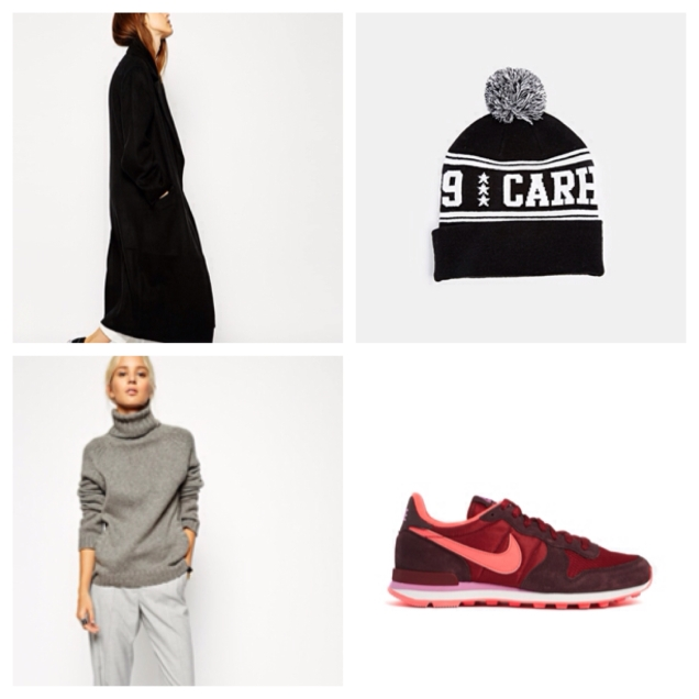 Sometimes being warm is all we care about. Look cool with this Carhartt fan beanie and bright Nikes