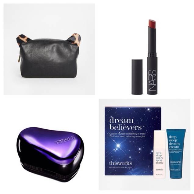 We've already raved about the This Works pillow spray and Nars' matte lipstick, this cute leather make-up bag does them proud