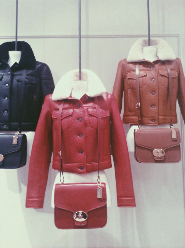 Coach Leather and Shearling jackets