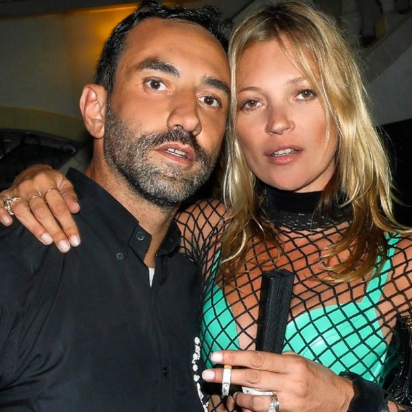 Only Kate Moss could make a turquoise bikini and black string dress look this cool