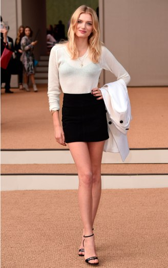 Lily Donaldson popped up more than usual this year; we absolutely love the simplicity of this LFW look; if only we had those legs