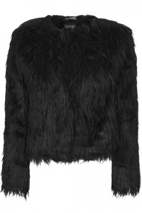 Topshop faux fur crop