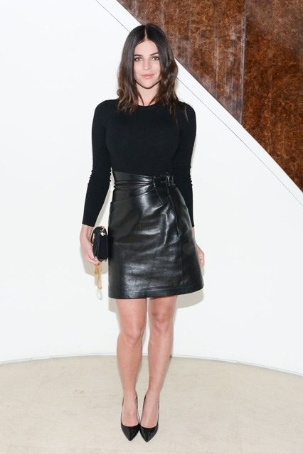 Julia-Restoin-Roitfeld leather skirt