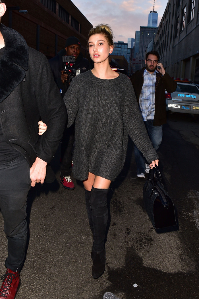 Hailey Baldwin leaving the show