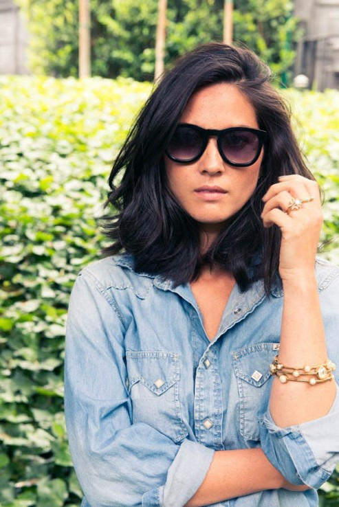 Olivia Munn does LA cool for the Coveteur, with subtle layers.