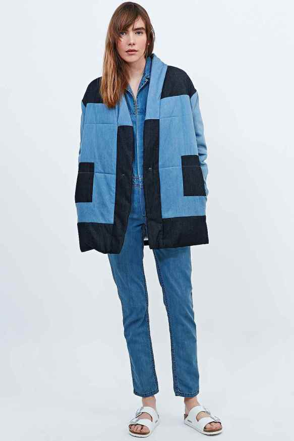 Duvet denim coat