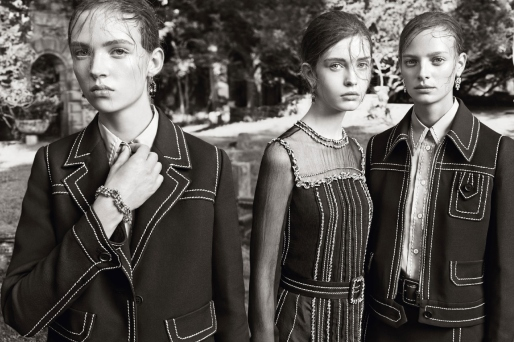 But really shown off in the Prada Resort 15 Campaign