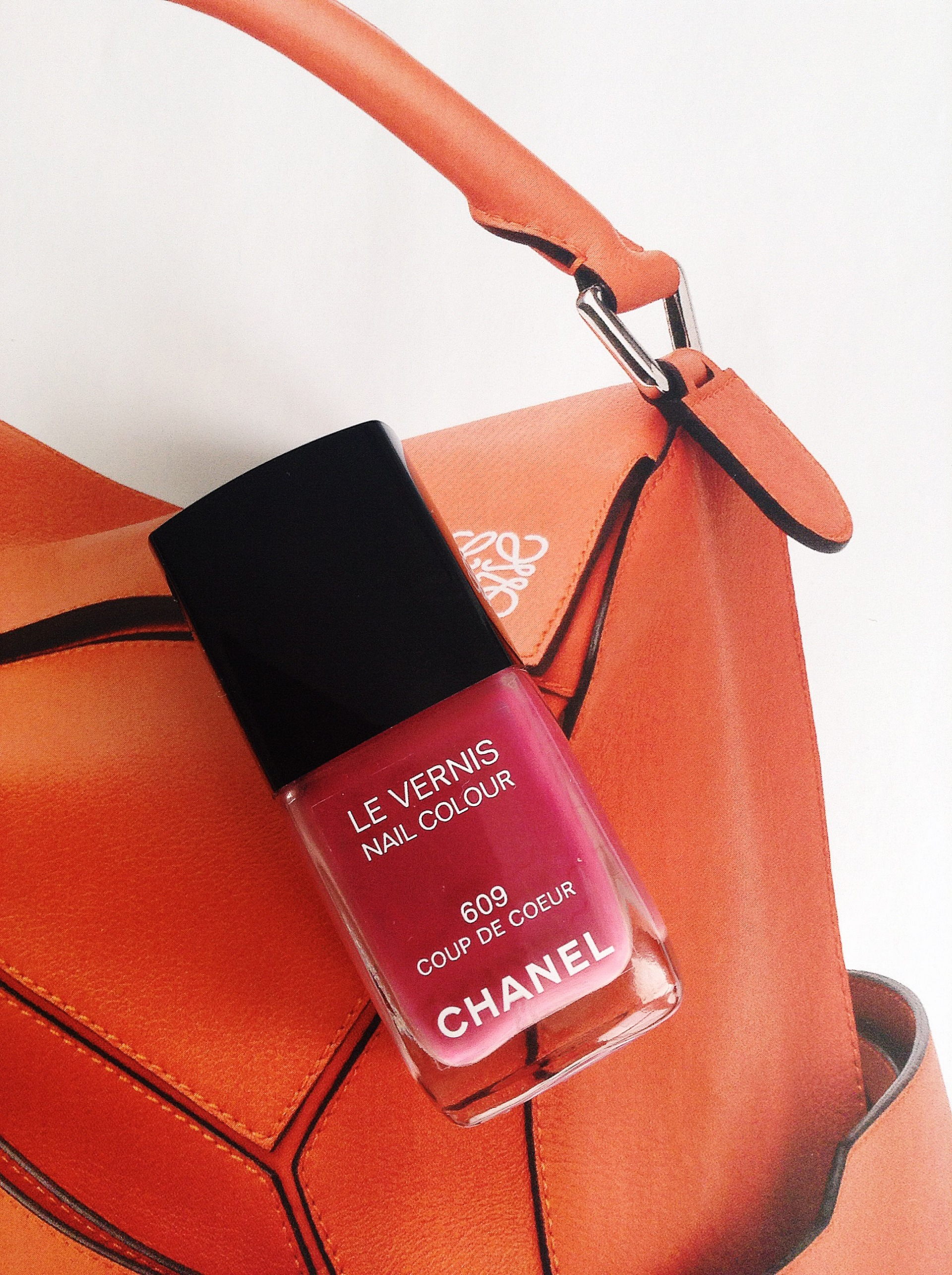 Chanel pink nail varnish. Blush London