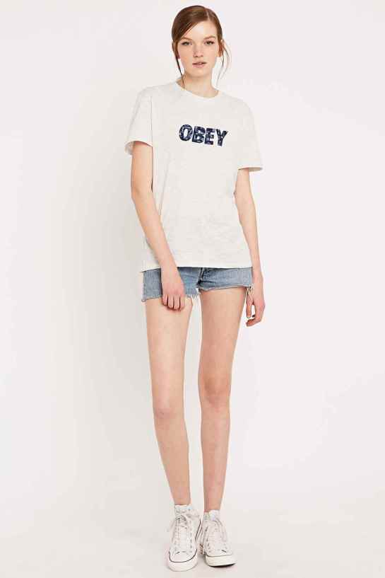 Obey embroidered logo tee - £35 -Urban Outfitters -http://tidd.ly/c77522b2