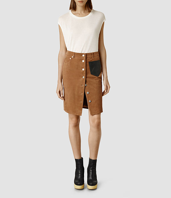 All saints hale skirt button up