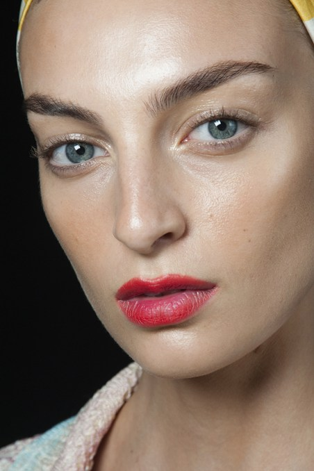 Missoni SS15 beauty red lips
