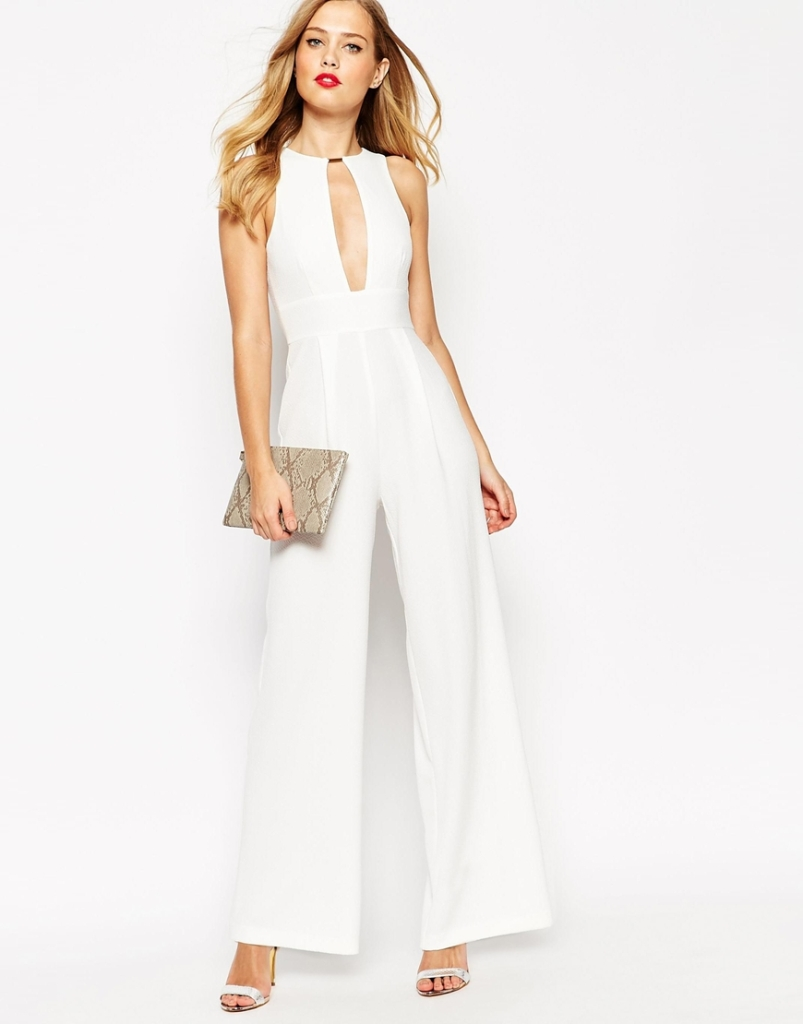 ASOS jumpsuit white