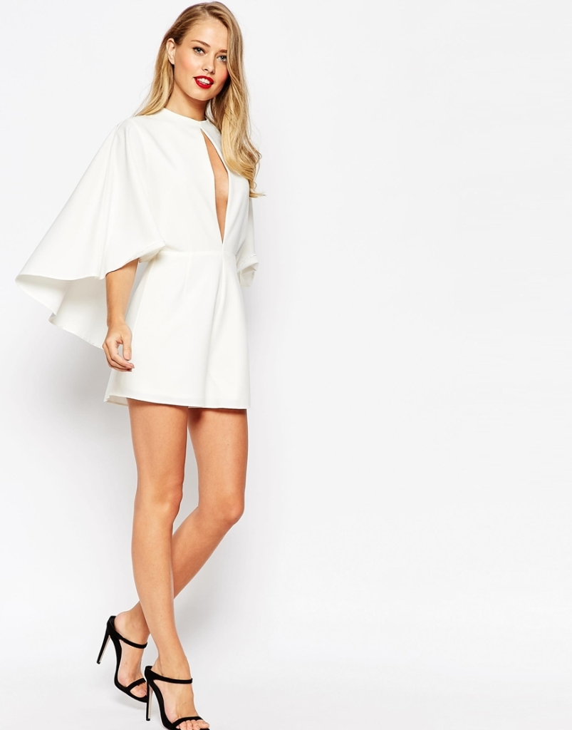 Asos white jumpsuit