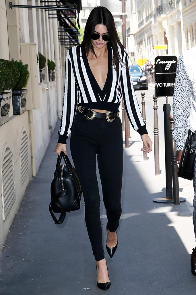 kendalljenner givenchy stripes
