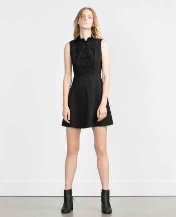 Zara nods to the sixties in this lace fronted babydoll