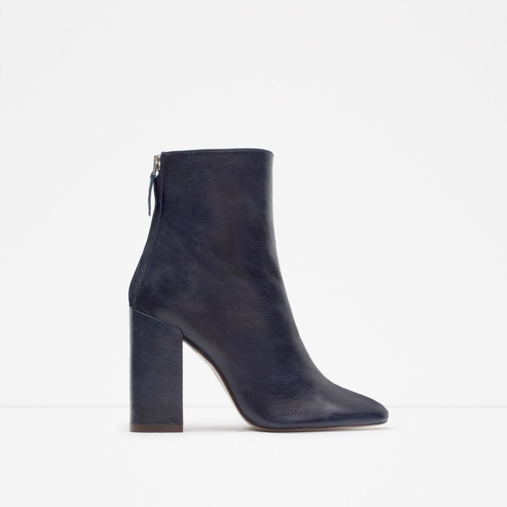 Zara leather sock boot
