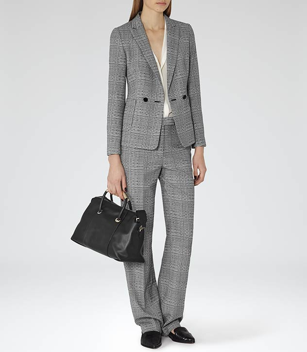 Reiss ladies check suit