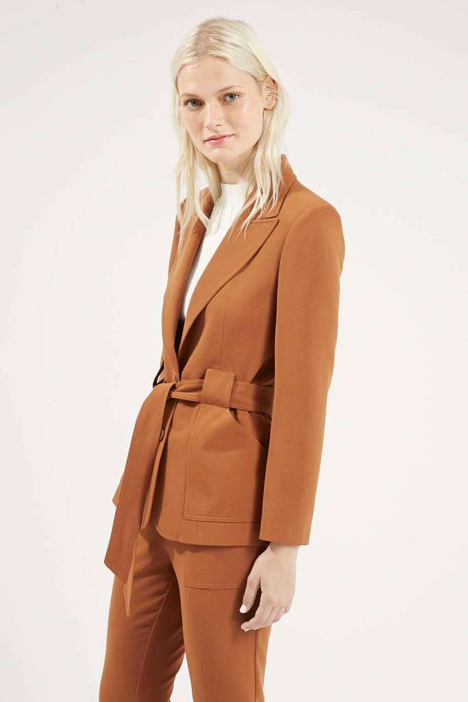 Topshop belted suit