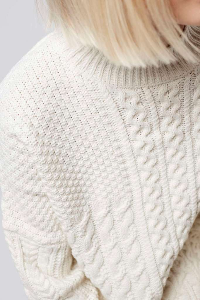 Topshop chunky cream knit