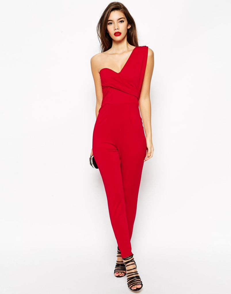 ASOS red jumpsuit