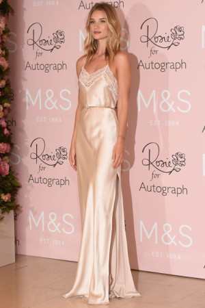 Rosie Huntington Whiteley showcasing her collection