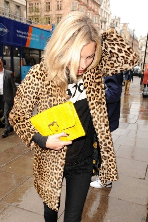 Kate in bella freud and leopard print