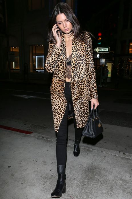 Kendall in Leopard Print coat