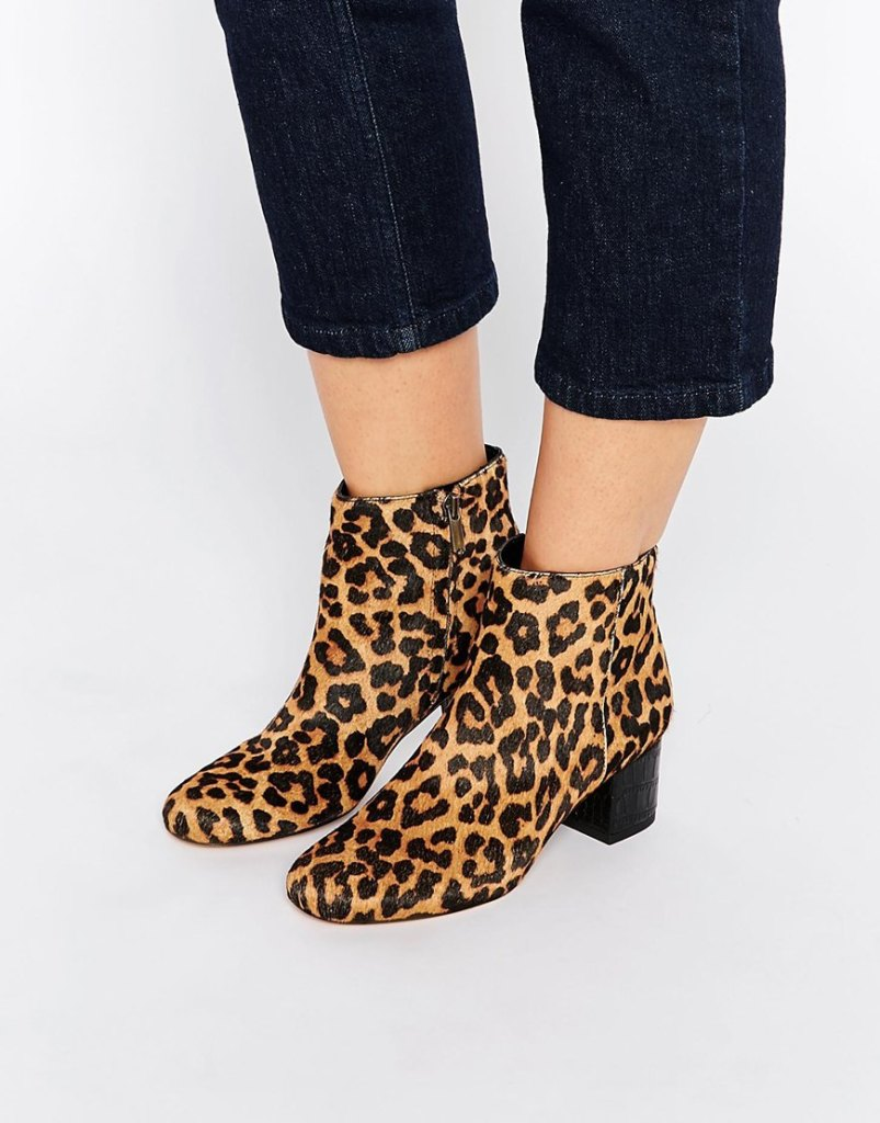 Sam Edelman Leopard Edith Ankle Boots