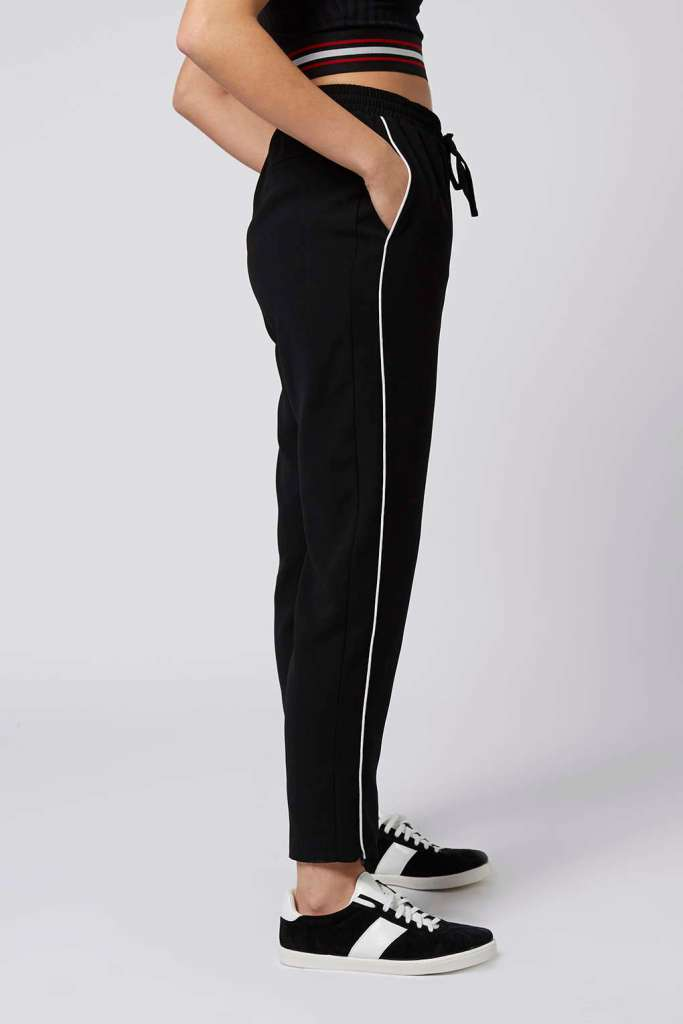 Contrast piping jogger topshop
