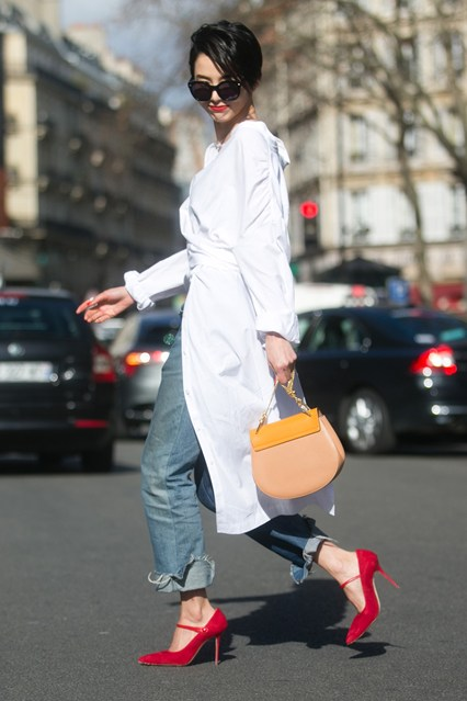 Vetements street style get the look white shirt