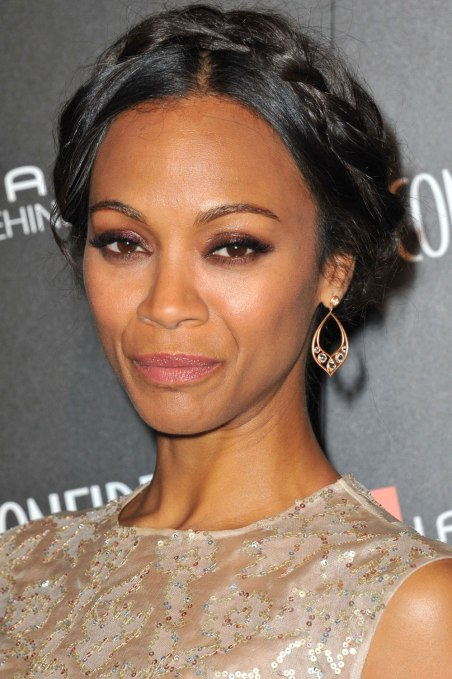 zoe saldana halo braid