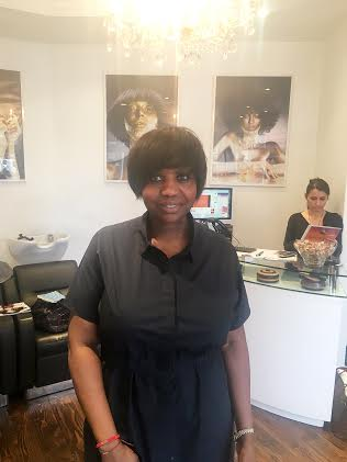 Charlotte Mensah at the Hair Lounge Notting Hill