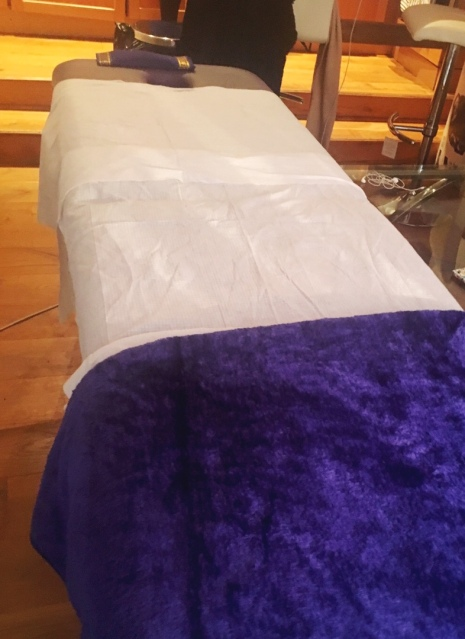 Massage table at home