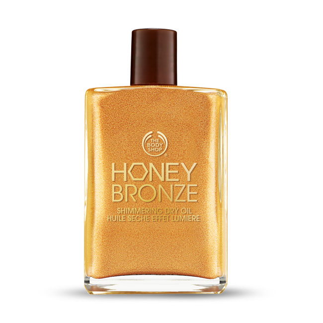 bodyshop honey bronze shimmering dry oil