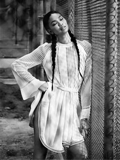 chanel iman french braids