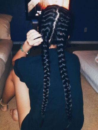 french plaits hair styles long hair