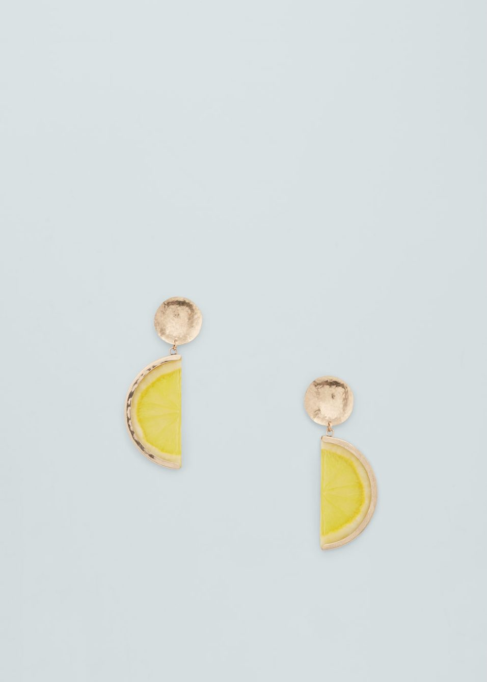mango lemon earrings