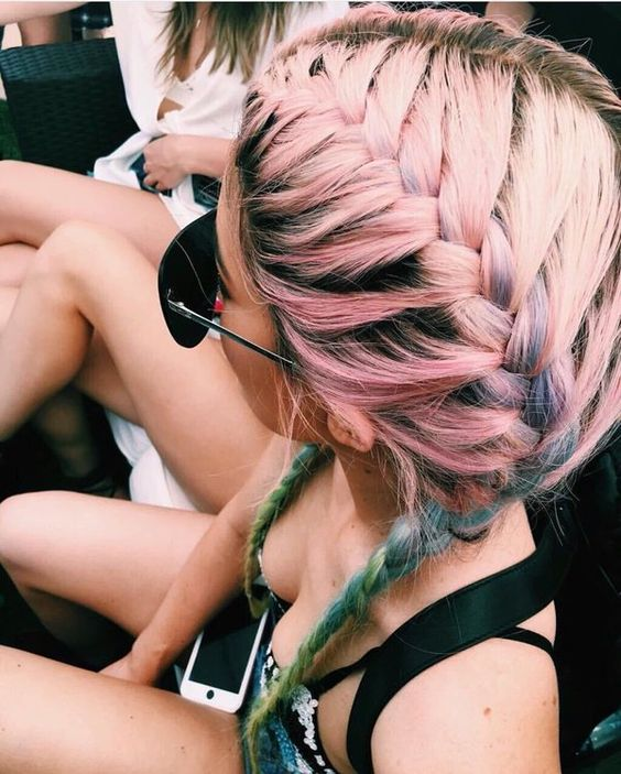 pink french plait kylie get the look how to hair