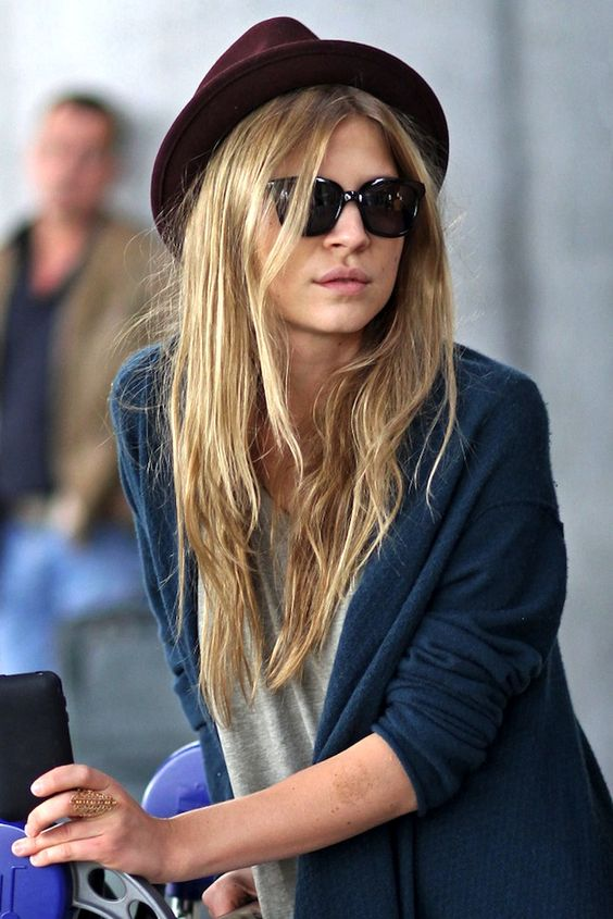 Clemence Poesy hair tousled french girl style get the look on blush london