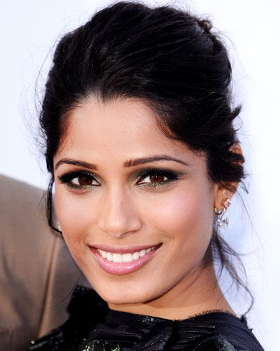 freida pinto red carpet beauty makup