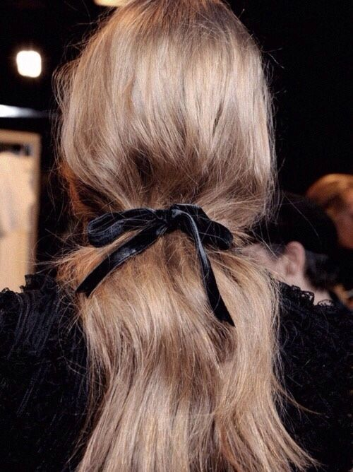 hair velvet ribbon hair tie