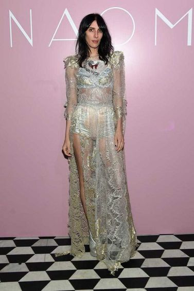 jamie bouchert metallic lace marc jacobs at naomi book launch