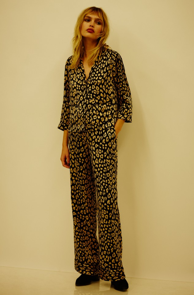 leopard print pyjama shirt kate moss equipment