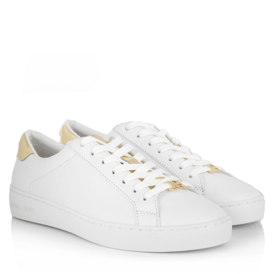 michaelkors white gold trainers